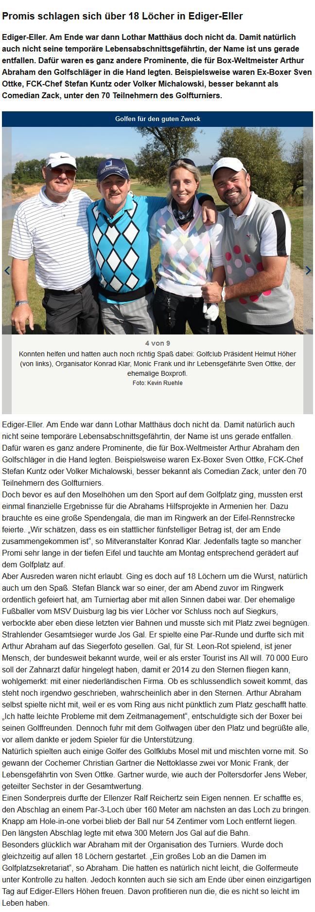 Promis schlagen sich über 18 Löcher in Ediger-Eller - Rhein-Zeitung Cochem-Zell - Rhein-Zeitung