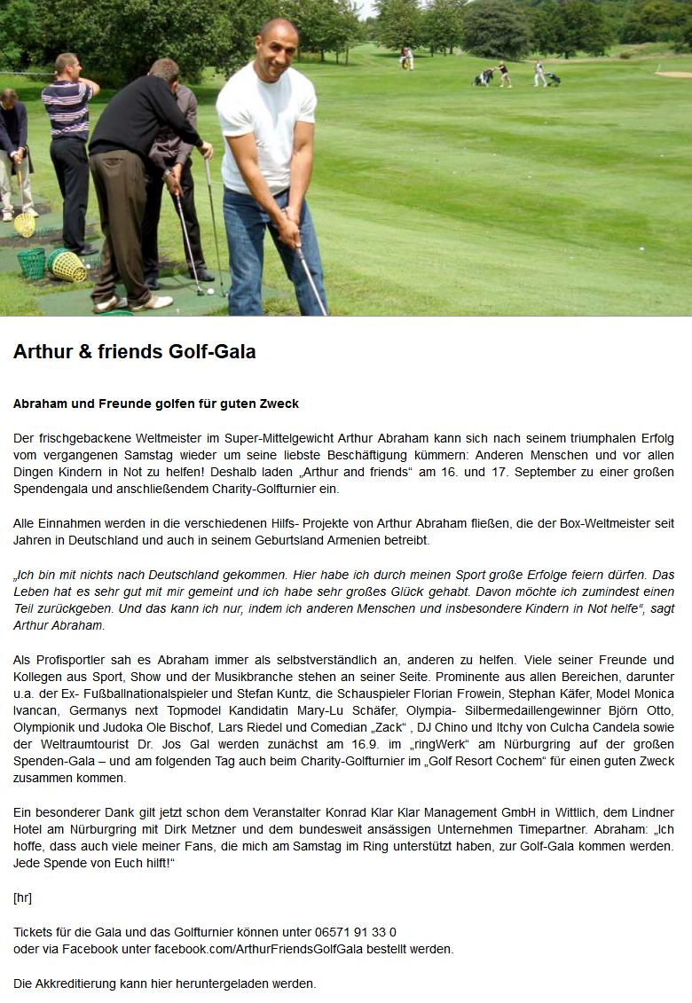 Arthur & friends Golf-Gala -